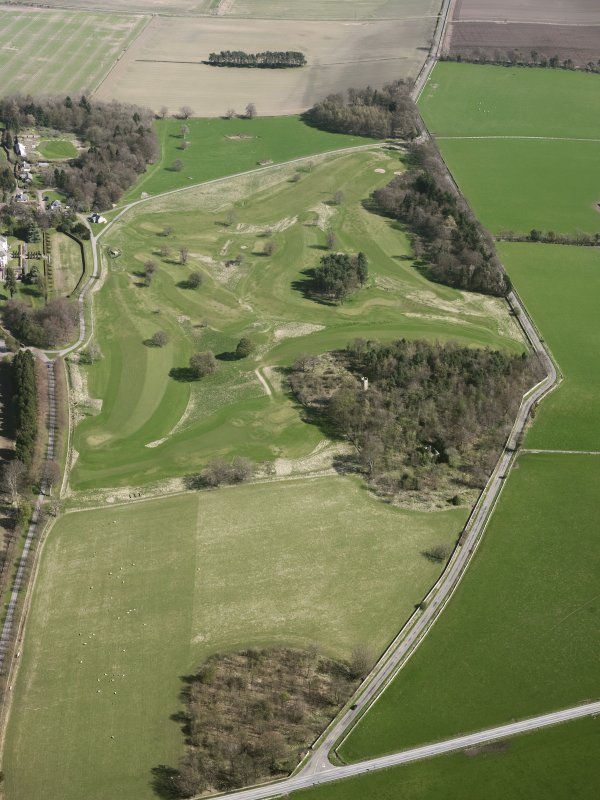 Oblique aerial view of Kingarrock Hickory Golf Course, taken from the W.