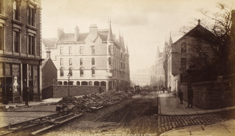 Victoria Road lookiing west from foot of Nelsion Street. J.V. PHOTOGRAPH ALBUM No.67: Dundee Valentine Album.