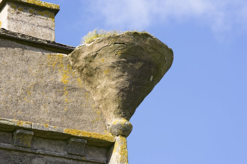 Detail of turret corbel at SE corner of main house