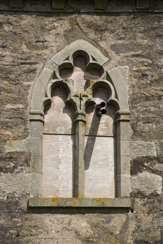 S facade, Brough Lodge, Fetlar, detail of tracery window at 1st floor level