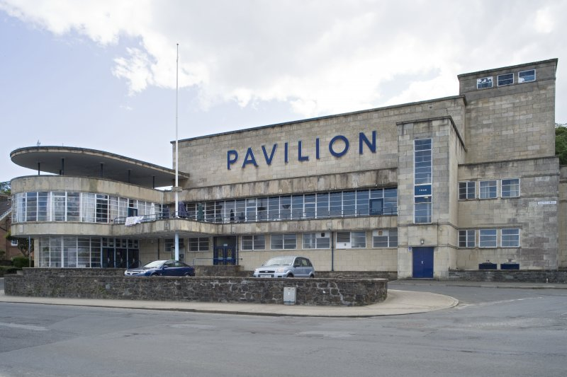 View of Rothesay Pavilion, Argyle Street, Rothesay, Bute, from NE