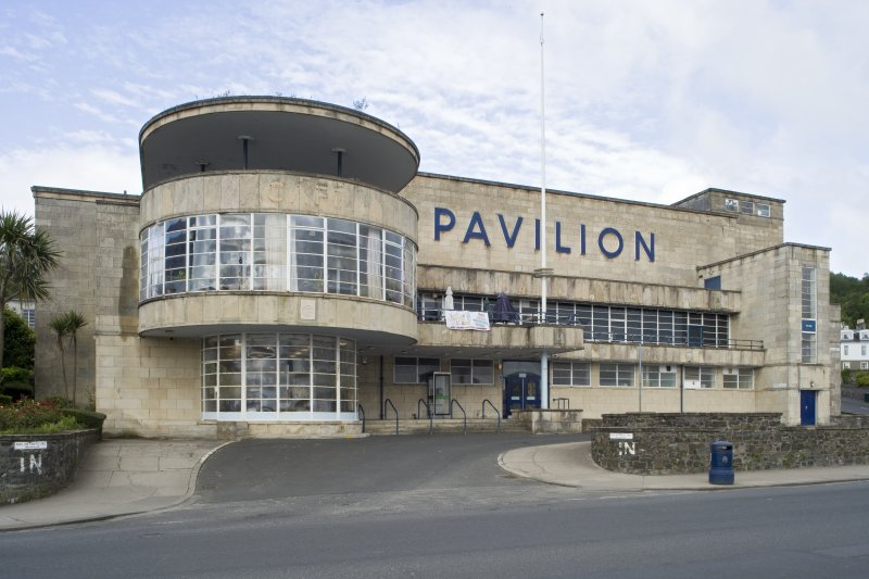 View of Rothesay Pavilion, Argyle Street, Rothesay, Bute, from E
