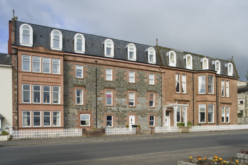 View of 1-5 Marine Court, Argyle Street, Rothesay, Bute, from E