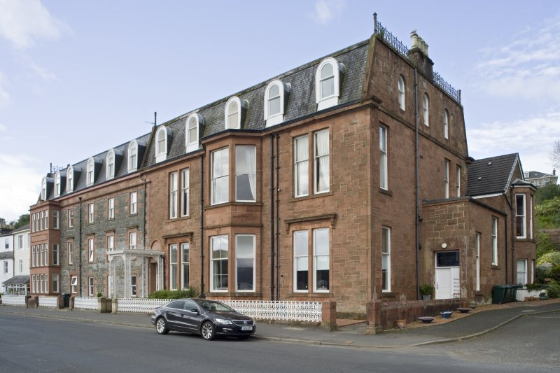 View of 1-5 Marine Court, Argyle Street, Rothesay, Bute, from NE