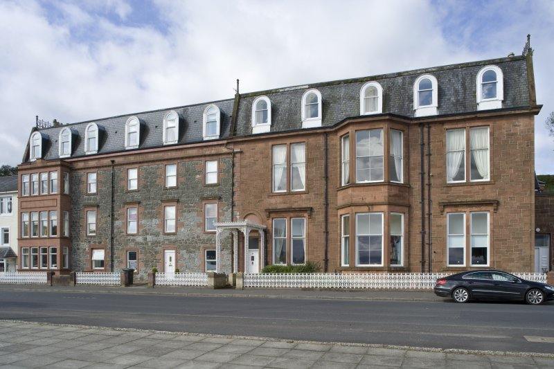 View of 1-5 Marine Court, Argyle Street, Rothesay, Bute, from ENE