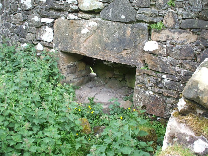 North Holm: fireplace in E gable wall of building 1