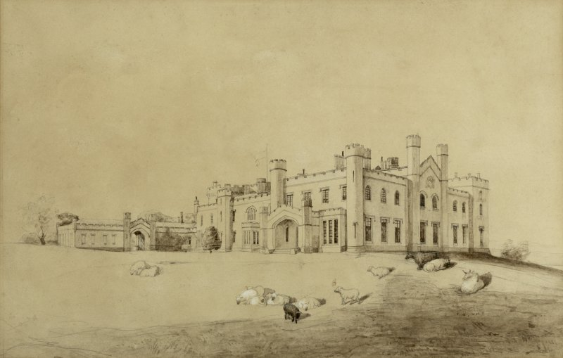 Drawing of Dundas castle dated 1818