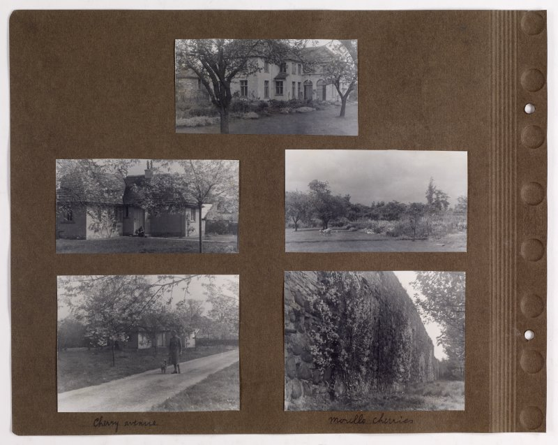Five album photographs showing views of Addistoun House and gardens. PHOTOGRAPH ALBUM NO.145: ADDISTOUN