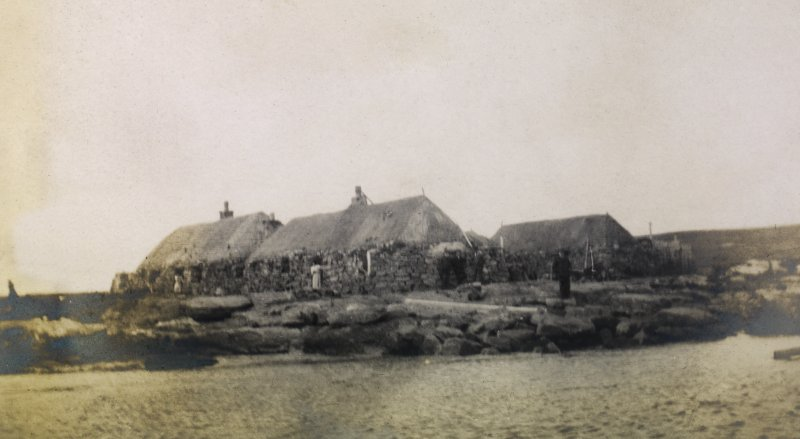 View of Port nan Long village, North Uist