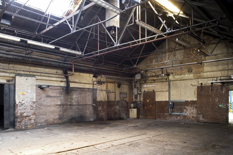 Interior. Former boiler room area, from S. Post 1913.