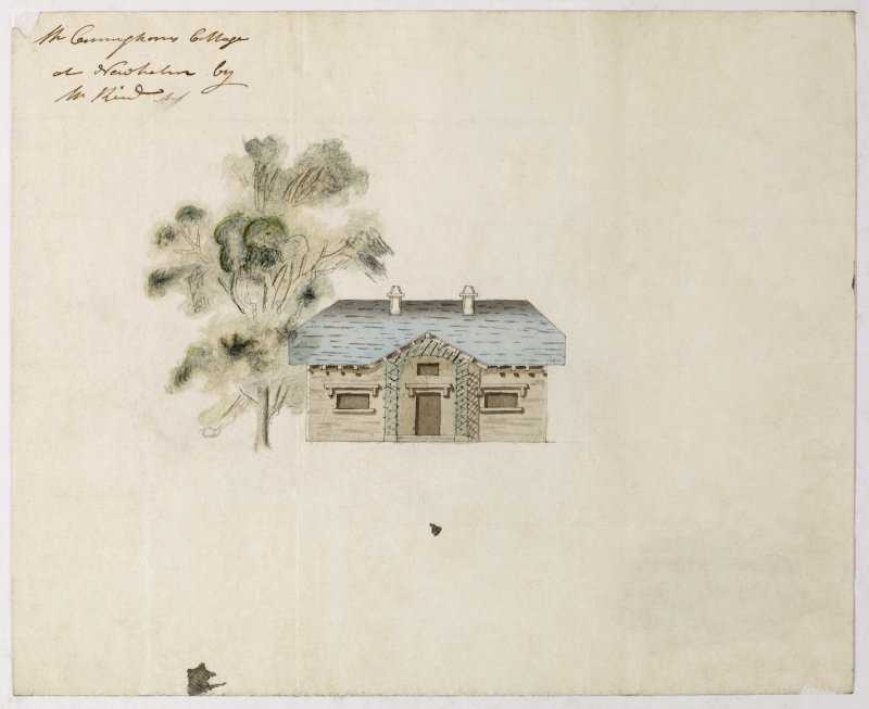 Digital copy of a design for the remodelling of the Eating Room at Sundrum Castle, Ayrshire. Insc:'Plan and Section of the Window Side of the eating room at Sundrum' s:'Jn Paterson Archt.' Annotated on panel above chimneypiece:'1797' Purchased with the assistance of the Art Fund, 2011.