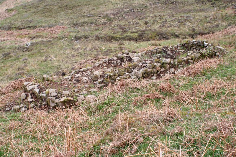 Cleared building, possible black house, Farmstead, Croft 1, Kilpatrick Farm