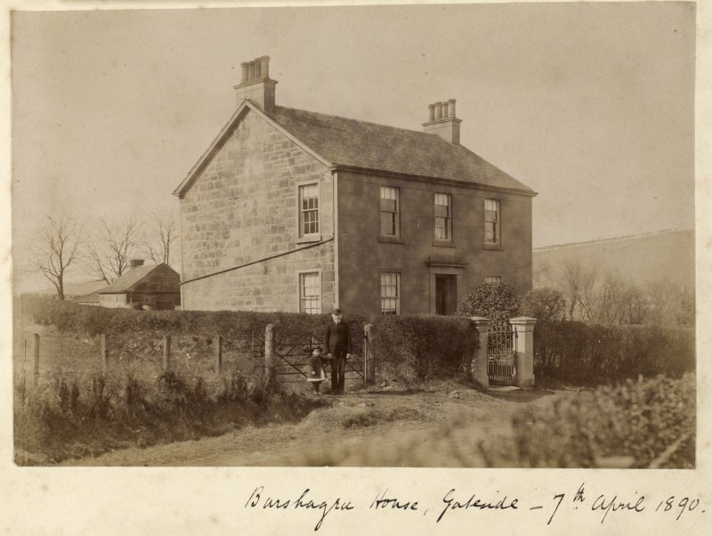 View of building Titled: 'Chappell House, Barrhead - 7th April 1890'