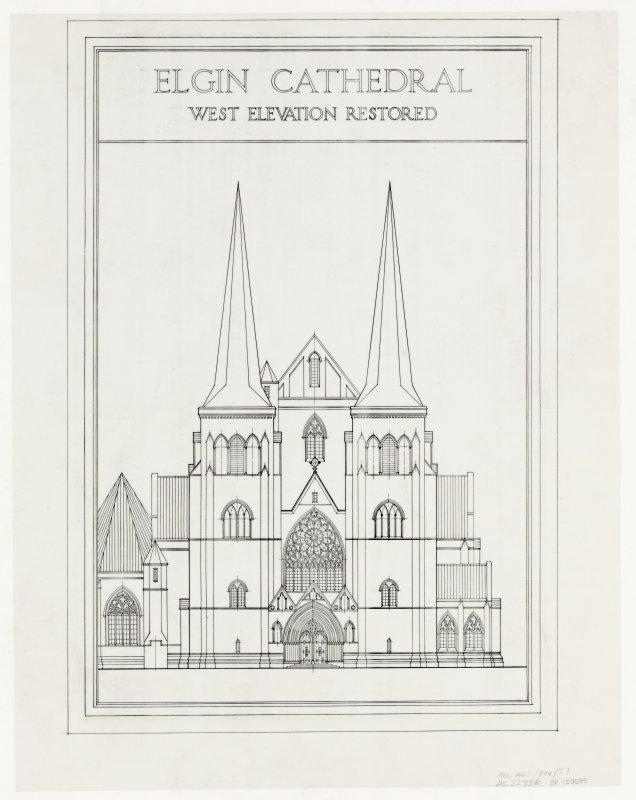 W elevation (restored).