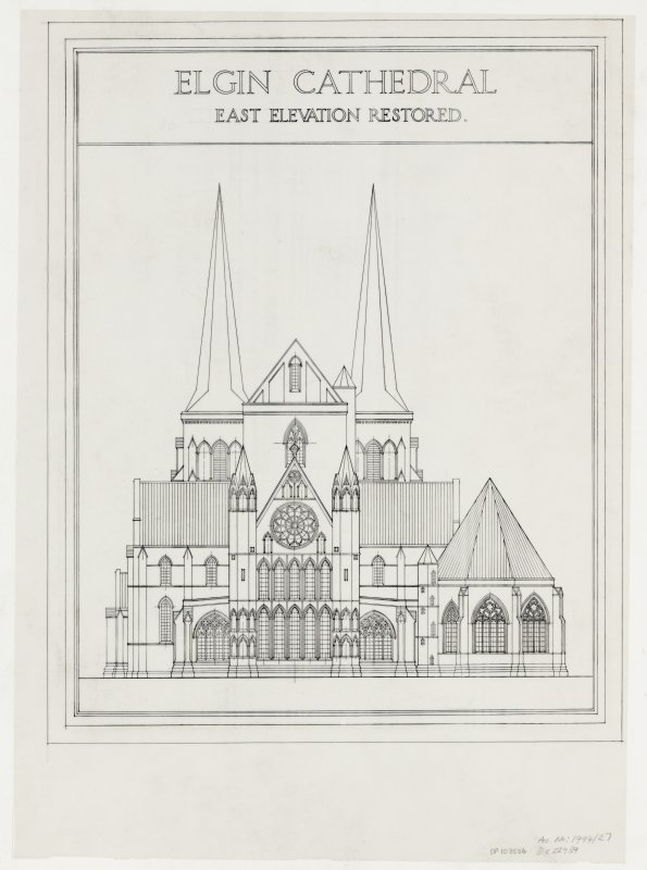 E elevation (restored).
