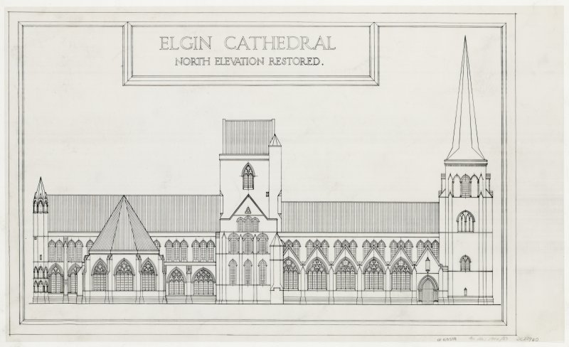 N elevation (restored).