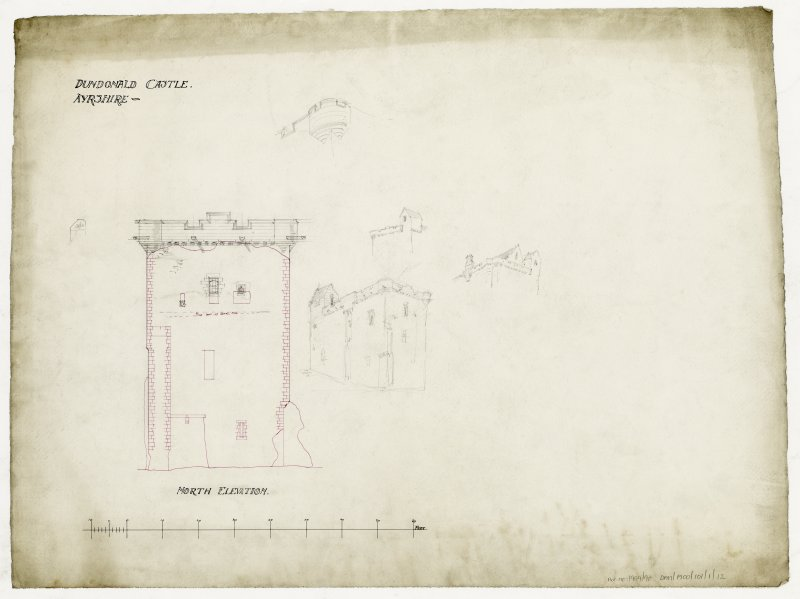 North Elevation and details for Dundonald Castle