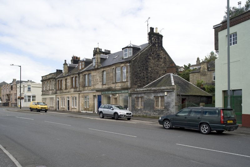 General street view showing 1-15 Corbiehall, Bo'ness, taken from the South-West. This photograph was taken as part of the Bo'ness Urban Survey to illustrate the character of the Corbiehall and Snab Area of Townscape Character.