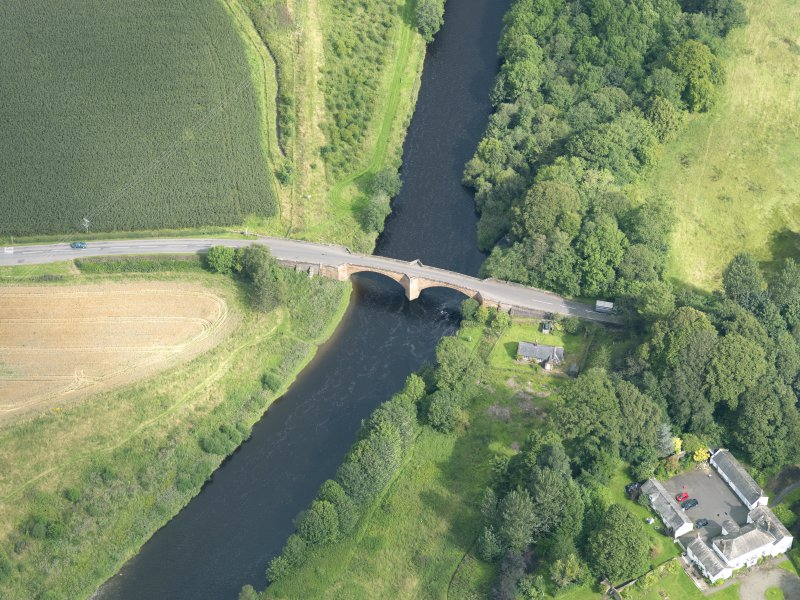 Oblique aerial view of Nith Bridge, taken from the S.