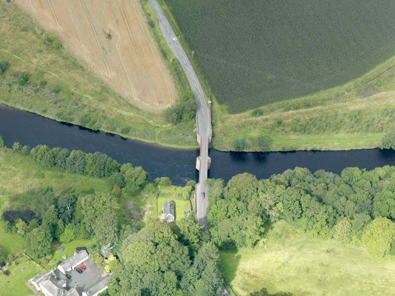 Oblique aerial view of Nith Bridge, taken from the ESE.
