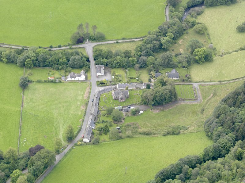General oblique aerial view of Tynron, taken from the NE.