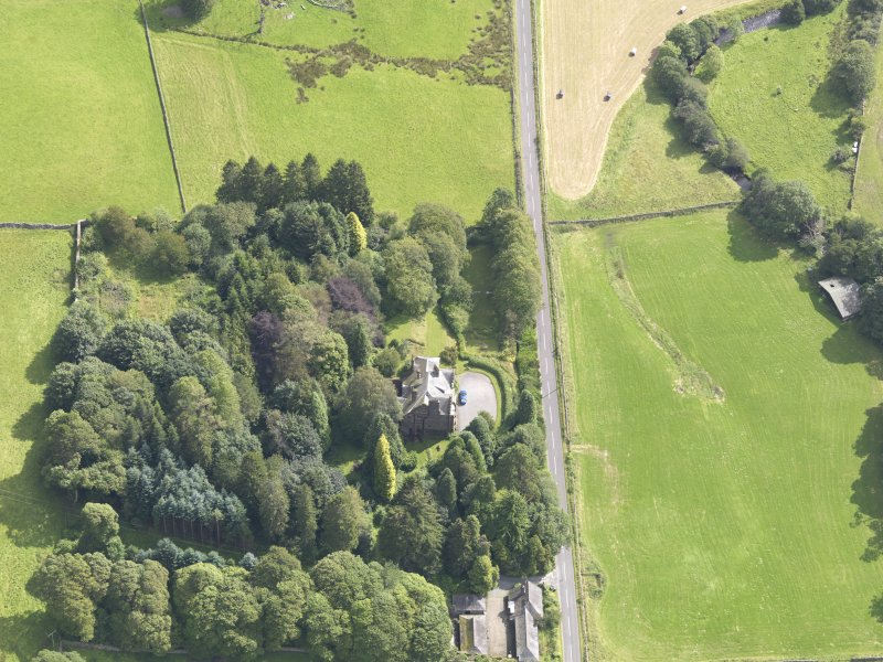 Oblique aerial view of Glenluiart, taken from the W.