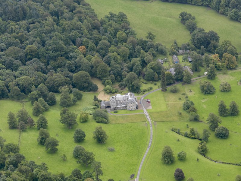 General oblique aerial view of Kilkerran House and policies, taken from the NNE.