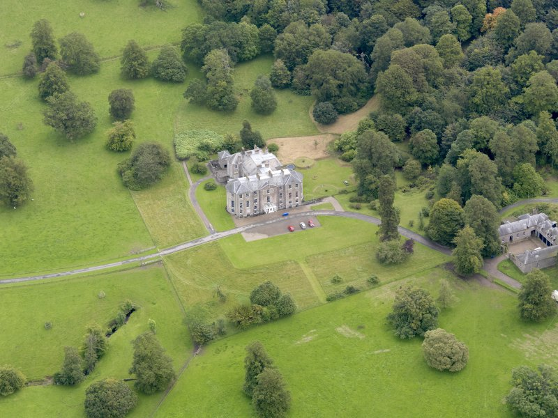 Oblique aerial view of Kilkerran House, taken from the WNW.