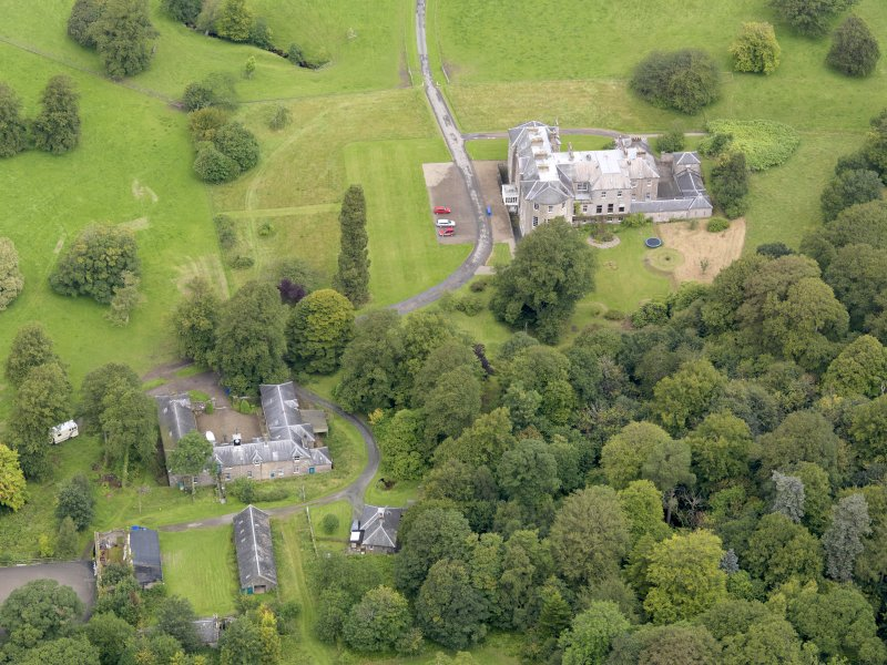 Oblique aerial view of Kilkerran House and policies, taken from the S.