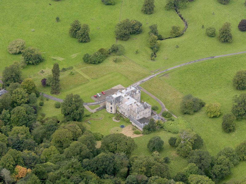Oblique aerial view of Kilkerran House, taken from the ESE.