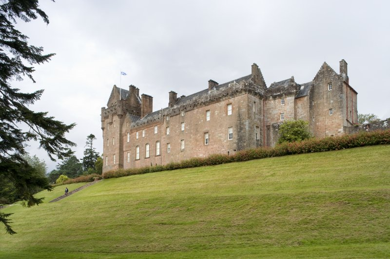 General view of the south east elevation looking across the grounds from the north east