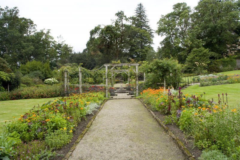 View looking south west within the walled garden