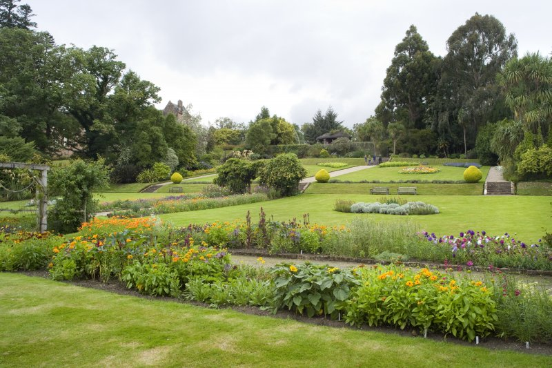 View looking north west within the walled garden
