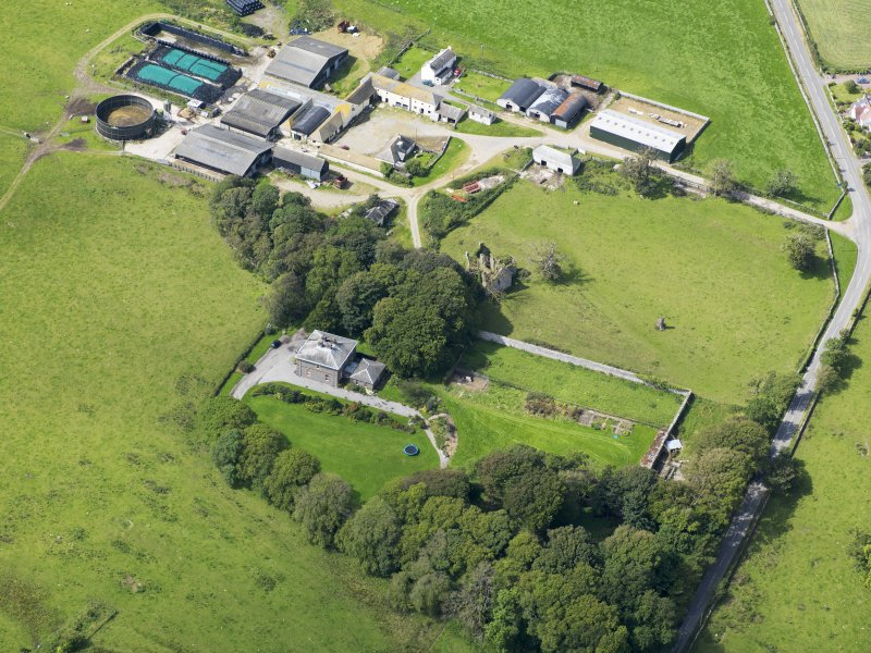 Oblique aerial view of Borgue House, taken from the ENE.