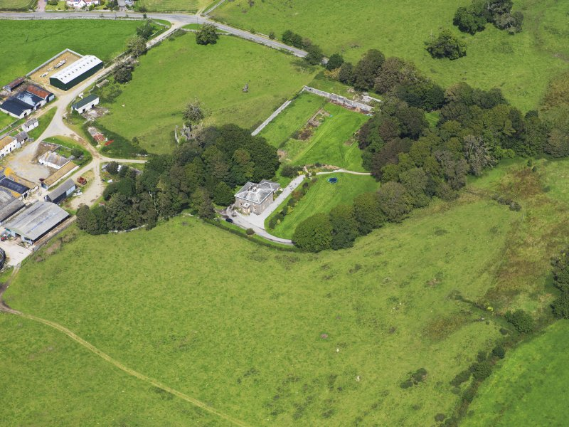 Oblique aerial view of Borgue House, taken from the S.