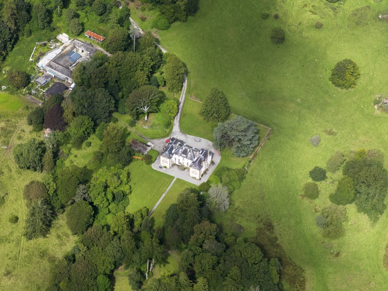 Oblique aerial view of Ardwall House, taken from the SSE.