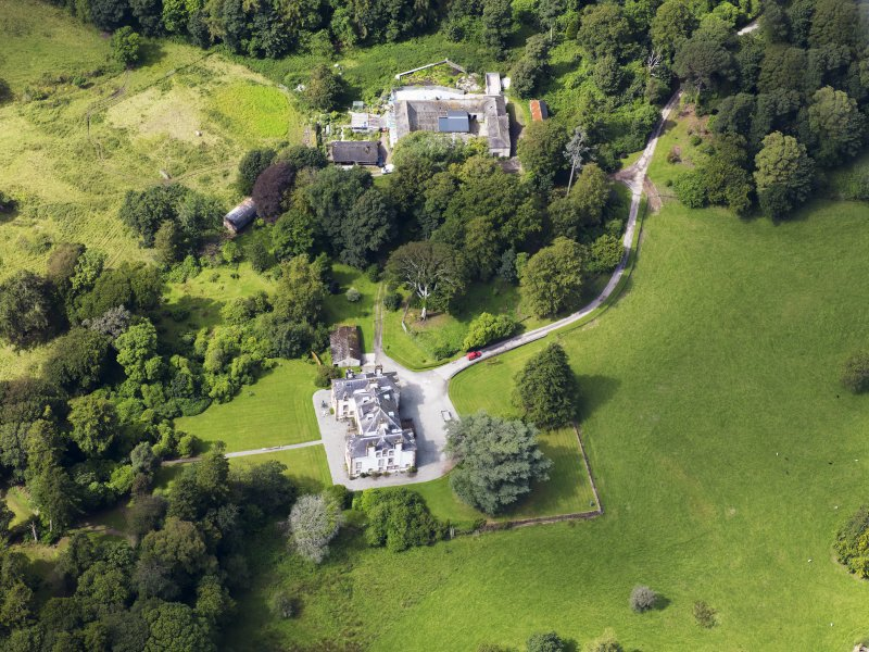 Oblique aerial view of Ardwall House, taken from the ESE.