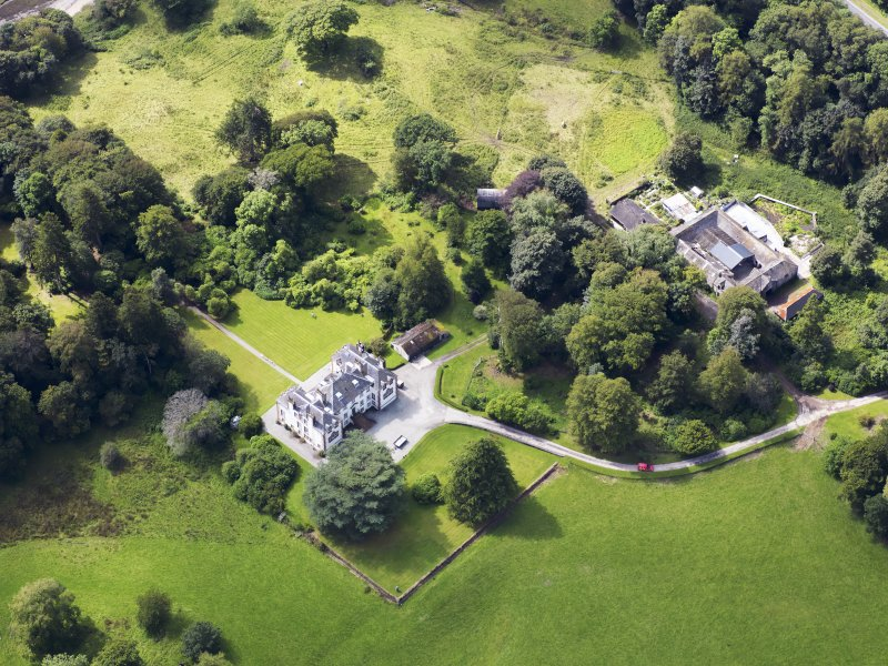 Oblique aerial view of Ardwall House, taken from the NE.