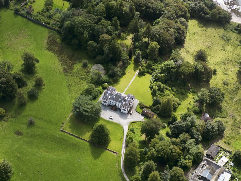 Oblique aerial view of Ardwall House, taken from the NNW.