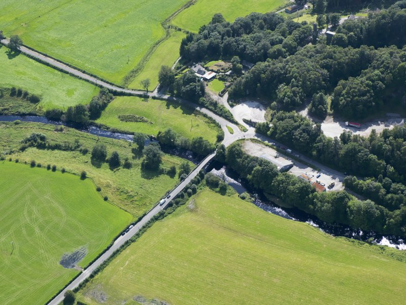 Oblique aerial view of Buittle Bridge, taken from the NE.