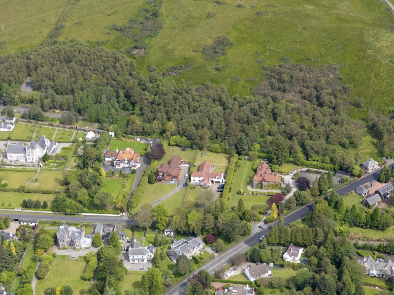 Oblique aerial view of Helensburgh, centred on the Hill House, taken from the S.