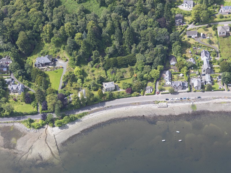 Oblique aerial view of Gareloch House, taken from the NE.