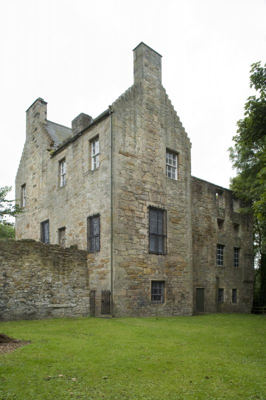View of the North wing of Kinneil House, Bo'ness, taken from the North. This photograph was taken as part of the Bo'ness Urban Survey to illustrate the character of the Kinneil Area of Townscape Character.