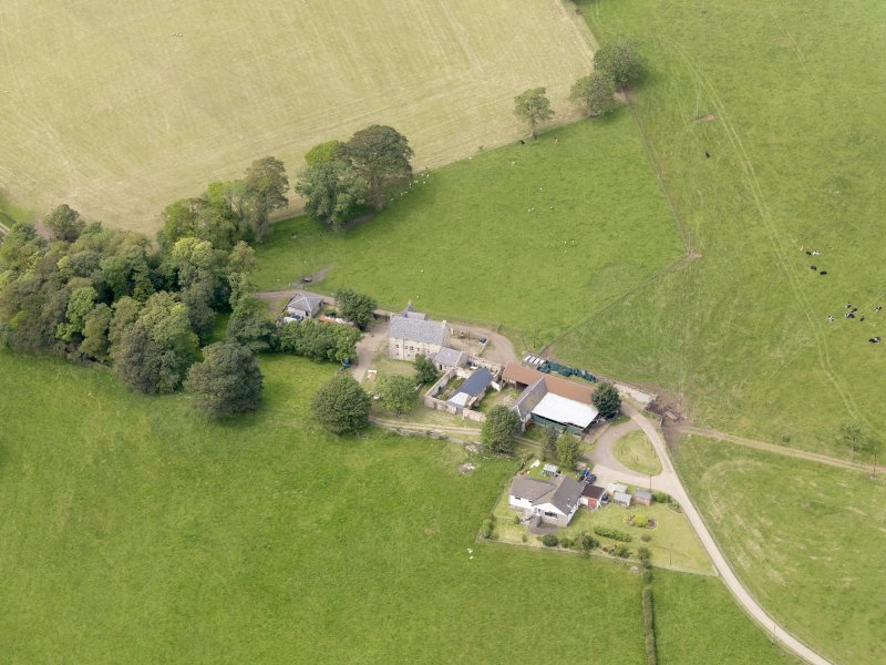 Oblique aerial view of Sornhill, taken from the SE.