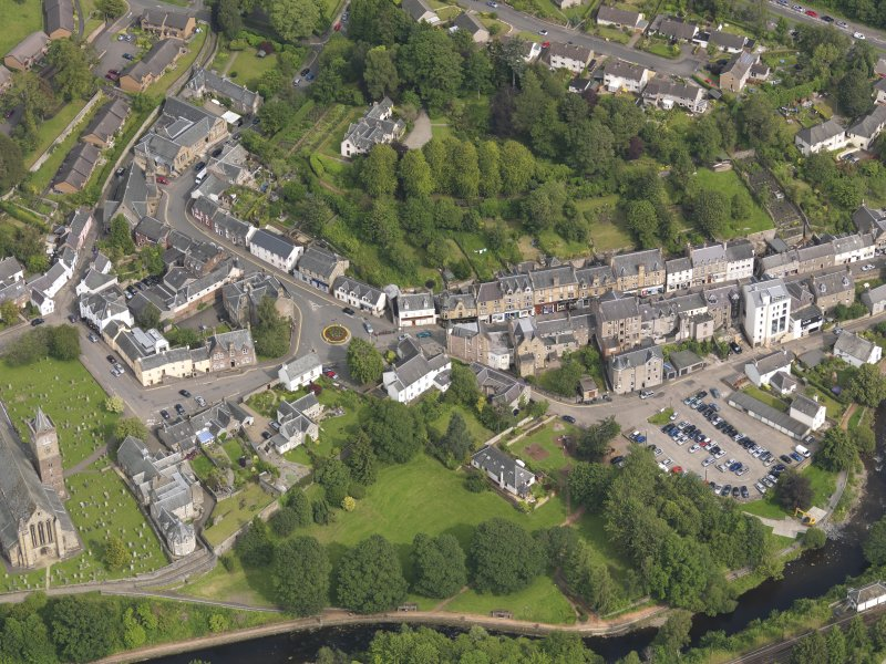 General oblique aerial view of Dunblane, taken from the W.