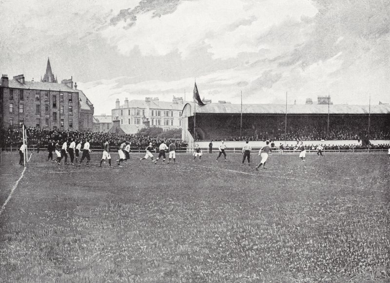 Digital Copy of image showing Cathkin Park Football Ground, Glasgow