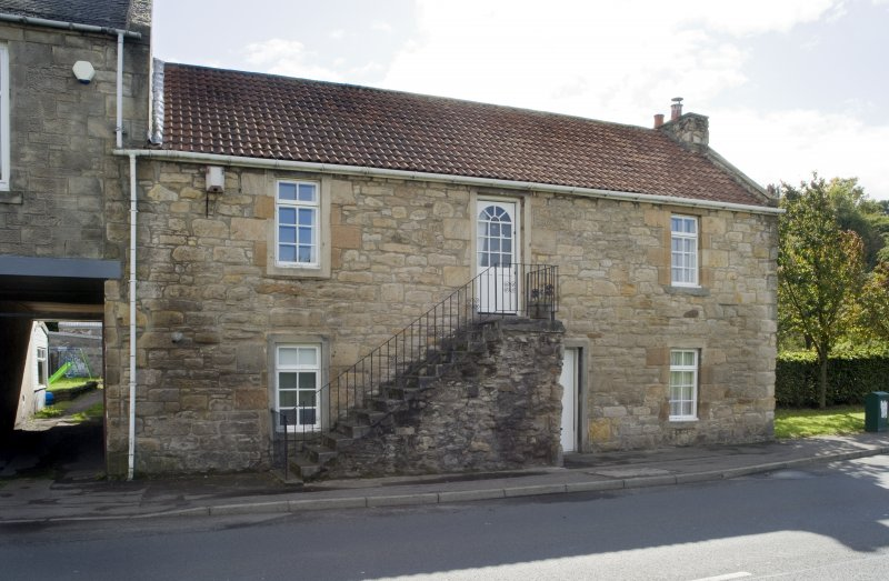 View of 101 and 103 Corbiehall, Bo'ness, taken from the North-West. This photograph was taken as part of the Bo'ness Urban Survey to illustrate the character of the Corbiehall and Snab Area of Townscape Character.