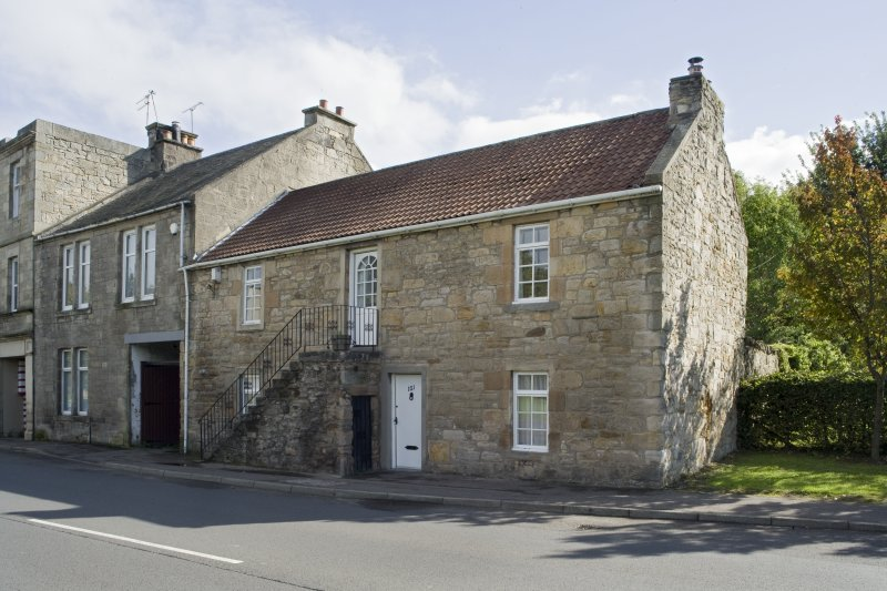 Street view showing 97-103 Corbiehall, Bo'ness, taken from the North-West. This photograph was taken as part of the Bo'ness Urban Survey to illustrate the character of the Corbiehall and Snab Area of Townscape Character.