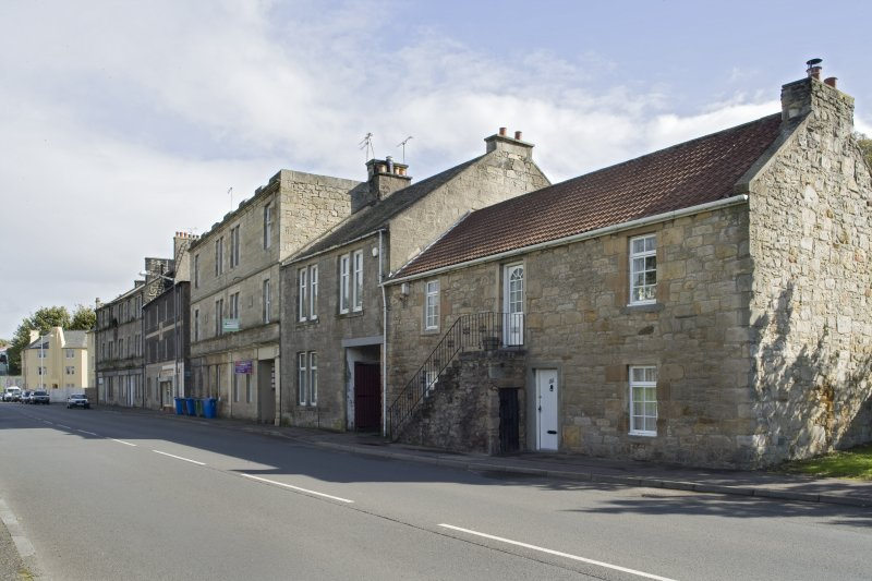 General street view showing the Southern side of Corbiehall (Nos 65-103), Bo'ness, taken from the North-West. This photograph was taken as part of the Bo'ness Urban Survey to illustrate the character of the Corbiehall and Snab Area of Townscape Character.