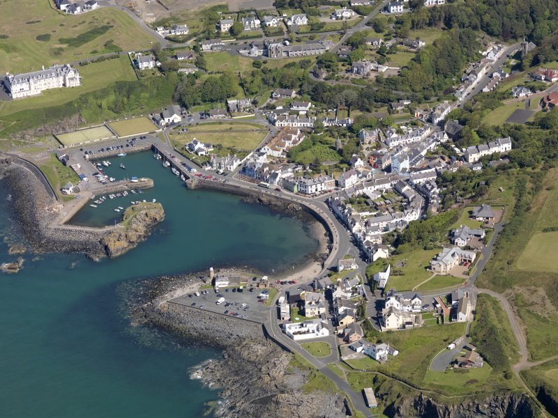 General oblique aerial view of Portpatrick Harbour, taken from the SSE.